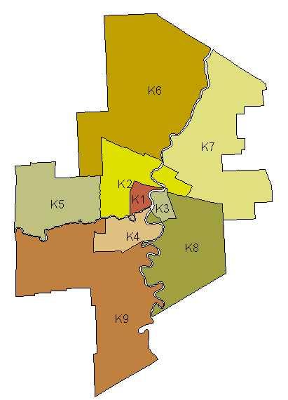 Winnipeg Zip Code Map Concept: MCHP Nine Winnipeg Sub Regions